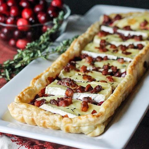 Cranberry Brie Tart with Pancetta & Thyme