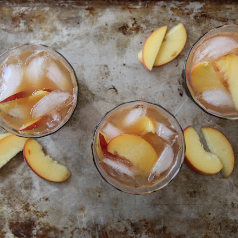 Peach Ginger and Bourbon Iced Tea