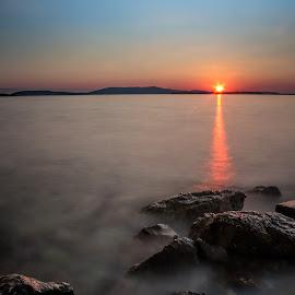 magical sunset by Vedran Bozicevic - Landscapes Waterscapes ( adriatic, vacation, sky, colorful, sunset, croatia, sea, seascape, dalmatia, sibenik )