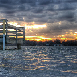 Choppy morning. by Jeremy Rose - Buildings & Architecture Bridges & Suspended Structures
