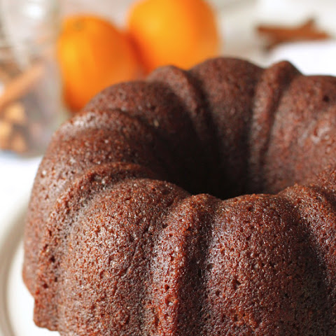 Orange Pumpkin Gingerbread Bundt Cake (whole wheat, dairy-free options)