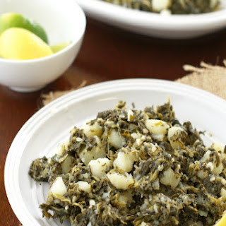 Lemon Garlic Potatoes With Spinach Recipes