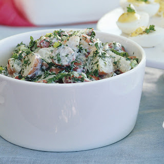 Creamy Potato Salad with Lemon and Fresh Herbs