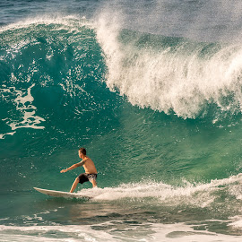 Giant Wave by Keith Sutherland - Sports & Fitness Surfing ( giant wave, adventure, challenge, surfing, surfer, ocean, man )