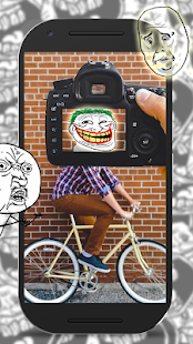 5 Troll Face Photo Montage Free App screenshot