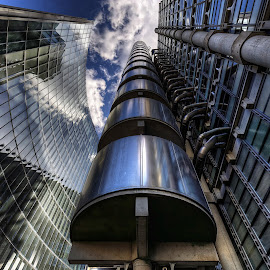 by Richard  Harris - Buildings & Architecture Architectural Detail ( lloyd's building, london city of london )
