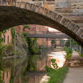 Georgetown C&O Canal by Dale Youngkin - Buildings & Architecture Bridges & Suspended Structures ( georgetown, park, c&o canal, city )
