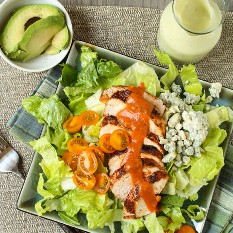 Buffalo Chicken Salad with Avocado Ranch Dressing