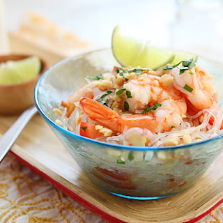 Yum Woon Sen (Thai Noodle Salad with Shrimp)
