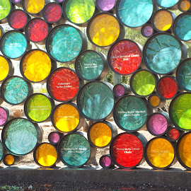 Wall of Circles by Donna Probasco - Abstract Patterns