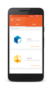 Push ups- Chest Fitness app screenshot for Android