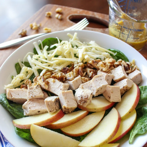 Apple, White Cheddar and Chicken Salad with Honey Mustard Vinaigrette