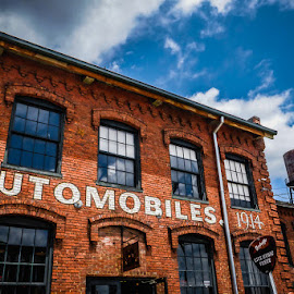 Automobils  by John Edwin May - City,  Street & Park  Historic Districts ( building, brick, nashville_tn, architecture )