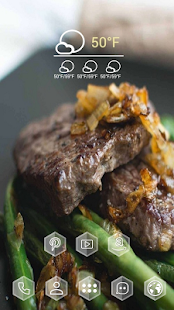Enticing steak asparagus theme - screenshot