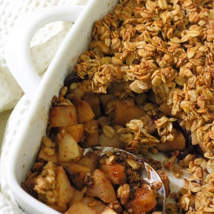 Spiced Pear & Chocolate Crisp Recipe | Yummly