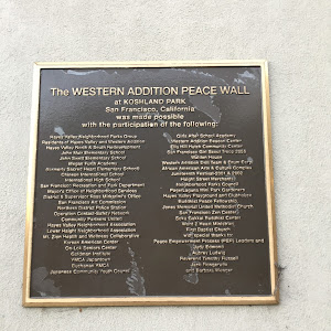 The Western Addition Peace Wall