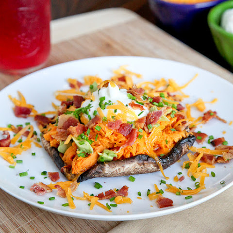 Loaded Sweet Potato Portabella Mushrooms