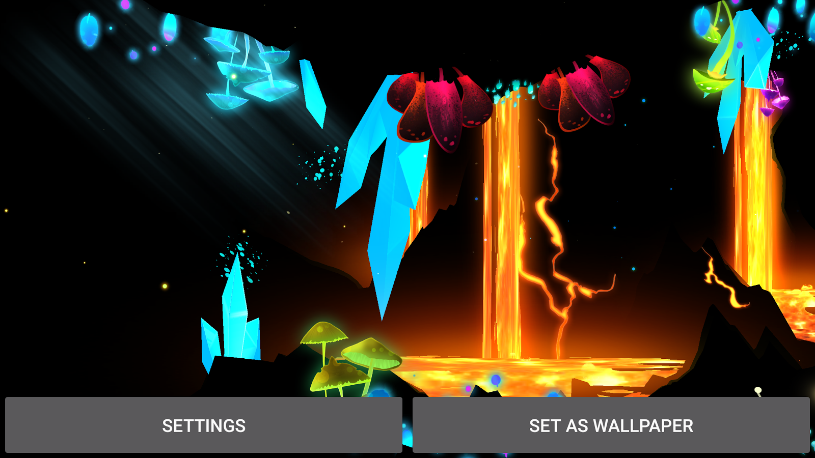 3D Fantasy Epic Lava Cave LWP Screenshot 15