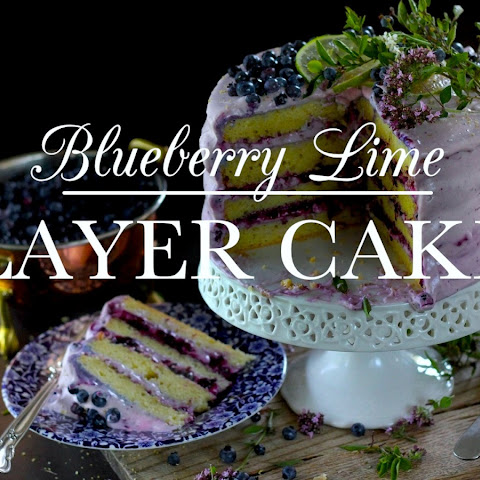 Blueberry Lime Layer Cake With Whipped Cream Cheese Frosting