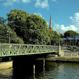 The Bridge by Alf Winnaess - City,  Street & Park  Neighborhoods
