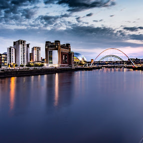 The Newcastle/Gateshead Quayside by Davey T - Buildings & Architecture Public & Historical ( river tyne, sunset, quayside, tyneside, gateshead, newcastle )