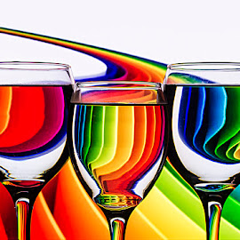 Rainbow in the glass by Rakesh Syal - Artistic Objects Glass (  )