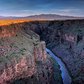 In Half the Time by Ken Latman - Landscapes Caves & Formations ( chasm, sunset, canyon, nm )