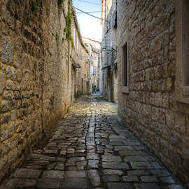 Old streets.. by Mario Španjić - City,  Street & Park  Historic Districts ( trogir, stone, streets )