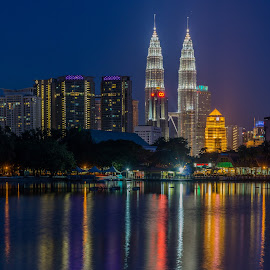 Kuala Lumpur 2 by Varok Saurfang - City,  Street & Park  Skylines ( klcc, tower, skyscraper, dusk, kuala lumpur, city )