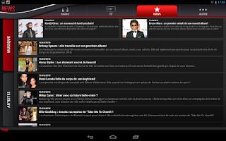 Screenshot of NRJ France Tablette
