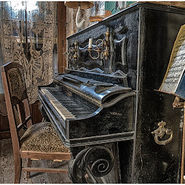 Manoire aux Statues by Esmeralda Holman - Artistic Objects Musical Instruments ( music, piano, lost places, decay, abandoned )