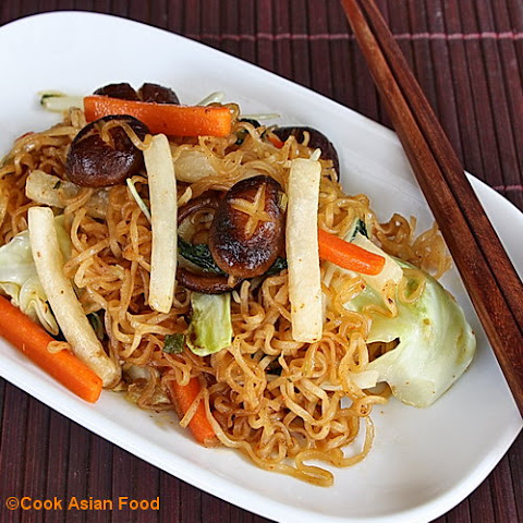 Vegetable Stir Fry with Noodles - Korean Style