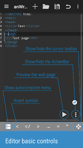 AnWriter text editor - screenshot