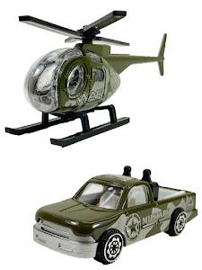 """Машинка  """"МИР МАШИНОК"""" 1:64 """"Армия"""" Вертолет и Пикап"""
