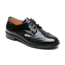 Step2wo Stingford 2 - Patent Lace Up SCHOOL SHOE