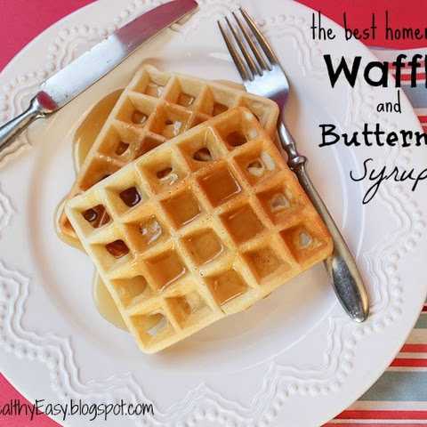 The Best Homemade Waffles and Buttermilk Syrup