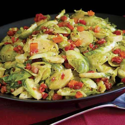 Brussels Sprouts Braised with Pancetta, Shallot, Thyme & Lemon