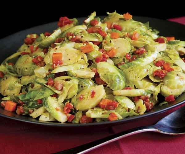 Brussels Sprouts Braised with Pancetta, Shallot, Thyme & Lemon Recipe ...