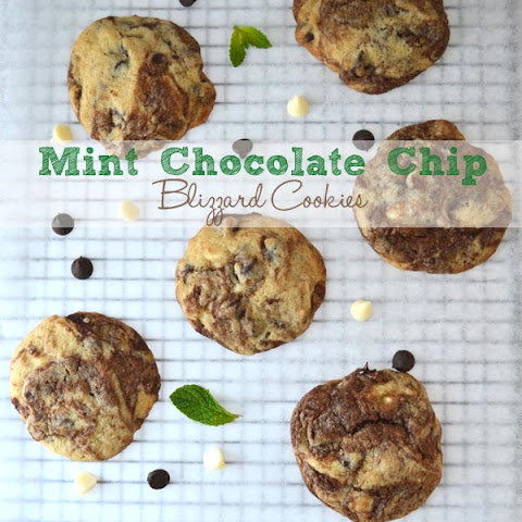 Mint Chocolate Chip Blizzard Cookies