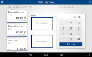 Screenshot of Gate City Bank