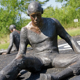 Are You Down? by Micheal Richards by Eva Pastor - Buildings & Architecture Statues & Monuments ( bronze, civil rights, tuskegee airmen,  )