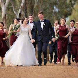 Rushing through the shoot by Peter Hutchison - Wedding Groups
