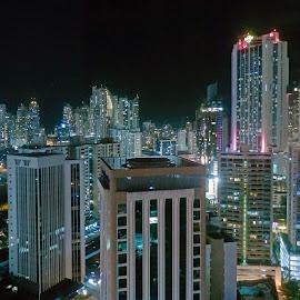 Hard Rock Panama by Don Bates - City,  Street & Park  Skylines ( skyline, buildings, panama city, city, nightscape )