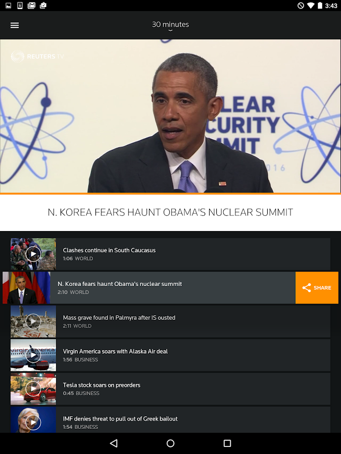 Reuters TV: Video News Screenshot 13