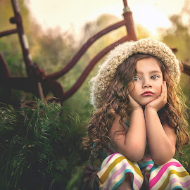 Waiting on Mom by Lisa Blevins - Babies & Children Children Candids ( #nature, #girl, #naturallight, #beautifulchild #candid )