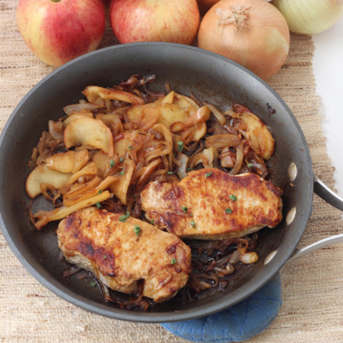 Pork Chops, Apple, and Onions