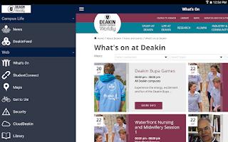 Screenshot of Deakin University