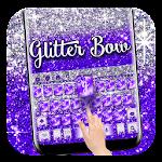 Glitter Purple Bow Keyboard Icon