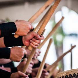 All together now by Maurizio Riccio - People Body Parts ( music, performers, hands, morikami, drum, festival, drummers )