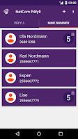 Screenshot of NetCom Påfyll